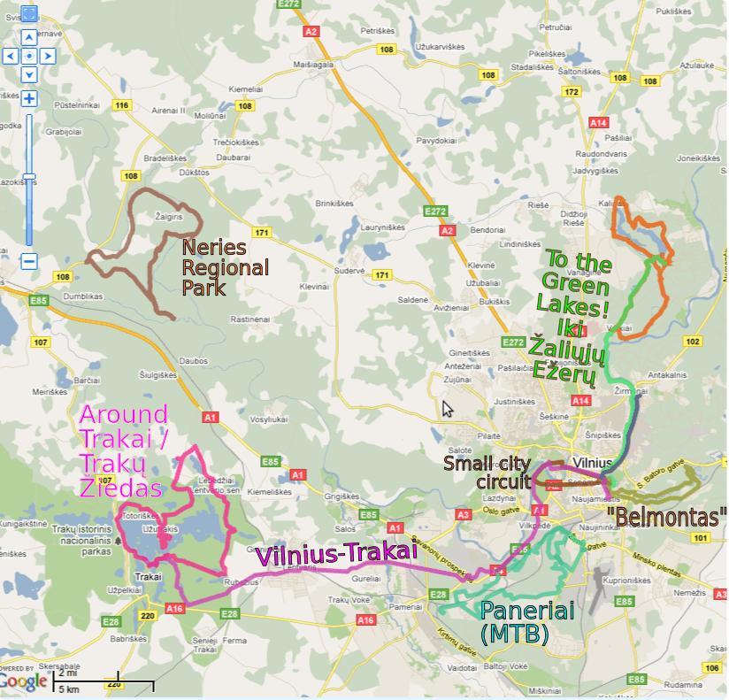 Dviračių maršrutai Vilniaus mieste