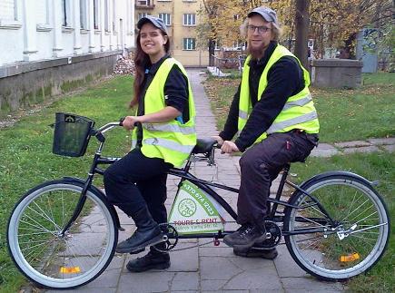 Miesto ekskursijos dviračiais