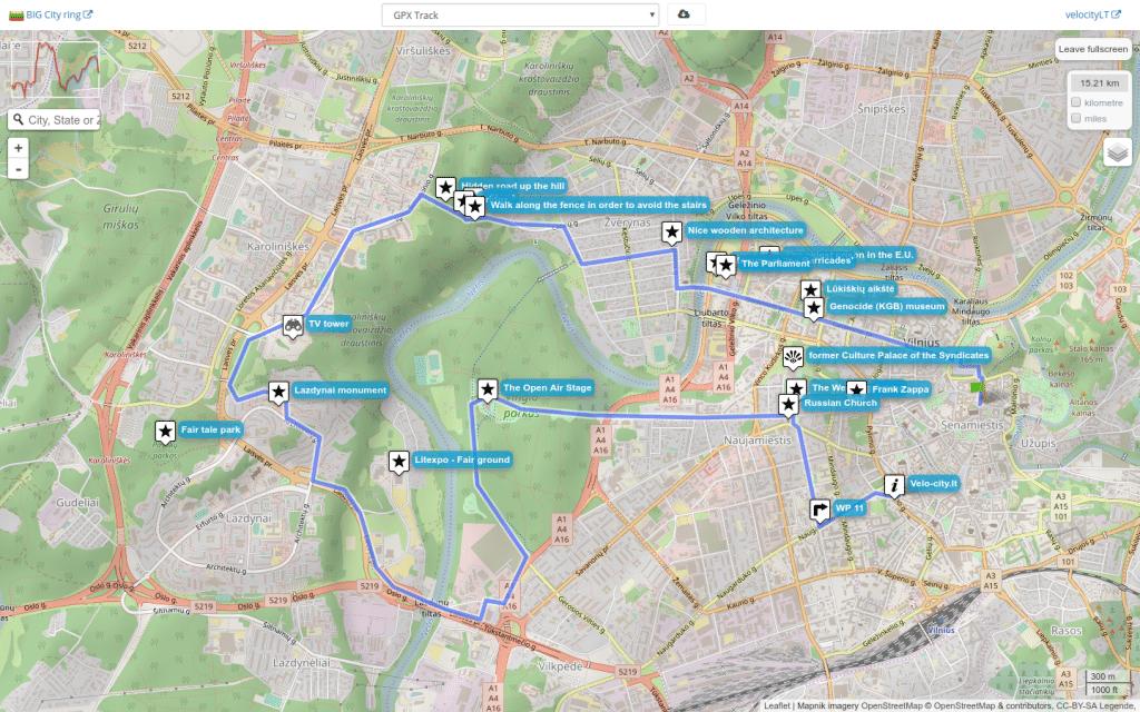 Gpsies Karte.Cycling Routes In Vilnius City Velo City Vilnius