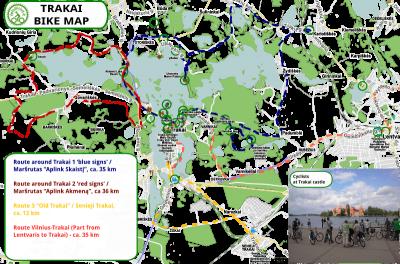 Bike routes IN Trakai