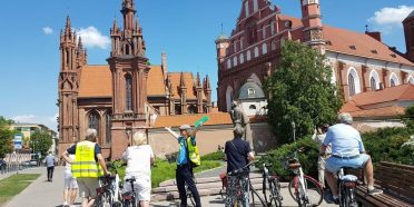 Vilnius bike tour @StAnn's church