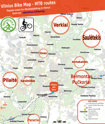 Mountainbiking in Vilnius